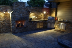 Outdoor Fireplace and Cook Center in Portland Oregon