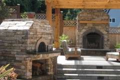 Pizza Over and Masonry Fireplace in Portland Oregon