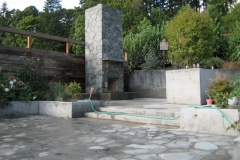 Slate Outdoor Fireplace and Patio in Portland Oregon